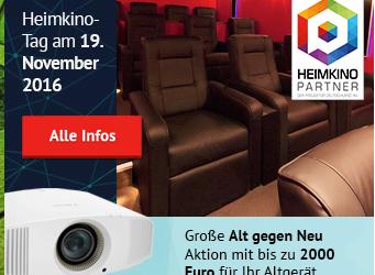 Heimkino Tage 2016 am 19. November an allen Standorten!