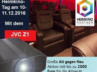 10.12 – 11.12.2016 – Heimkino Tage in Büdingen (Großraum Frankfurt) JVC DLA-Z1 und Sony VPL-VW550ES im Direktvergleich