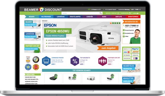 Notebook Beamer Discount Webseite