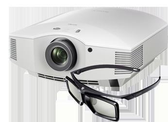 Sony VPL-HW55ES weiß mit Brille